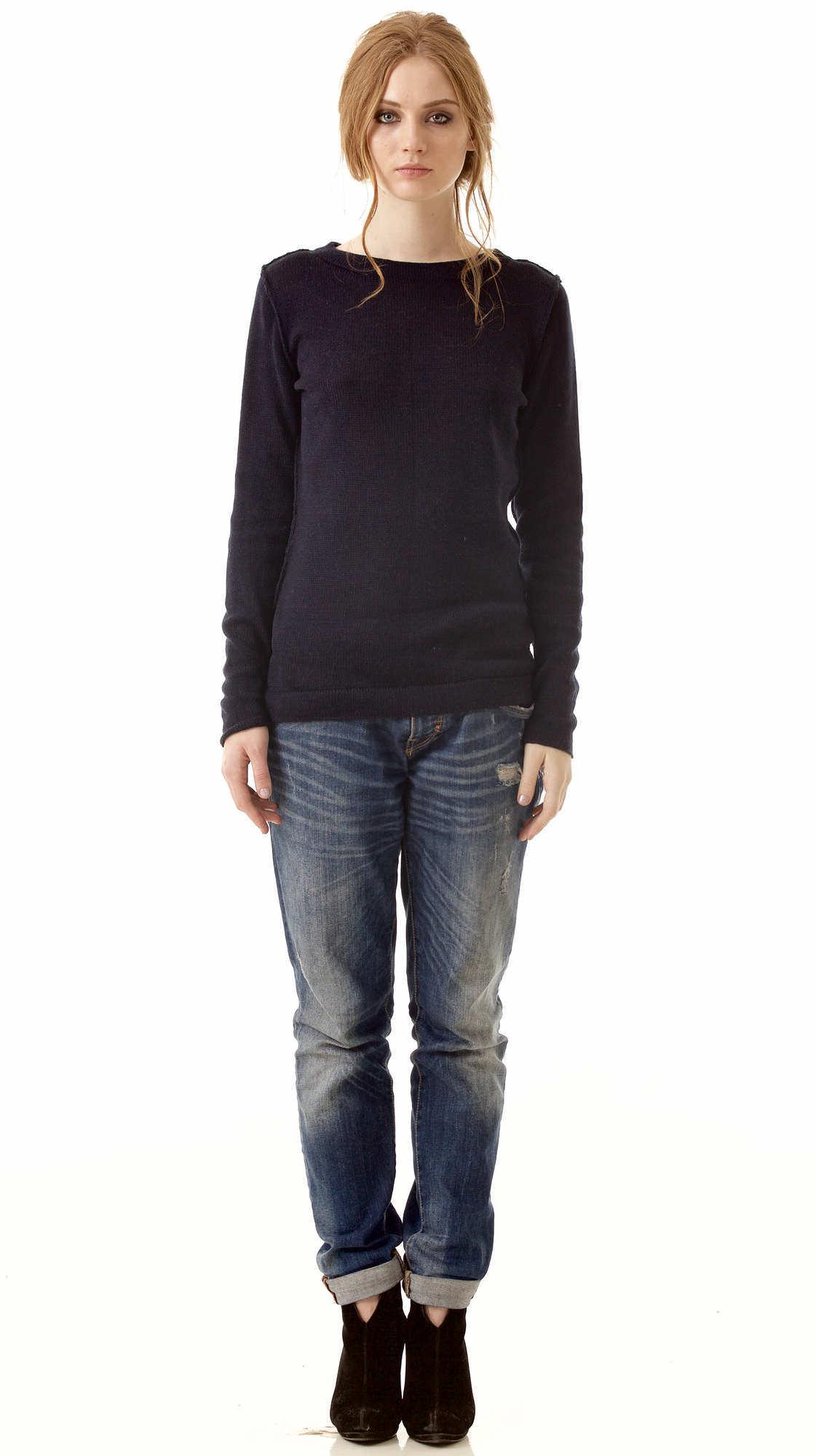 Schwarzer Kaschmir Pullover ELSA für Damen